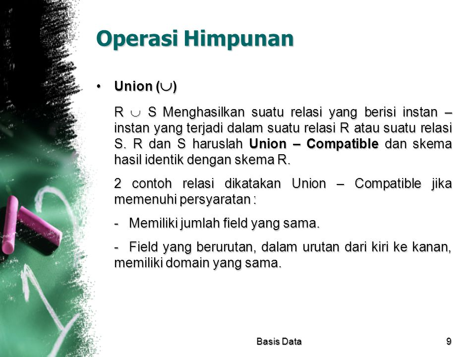 Operasi Himpunan Union ()