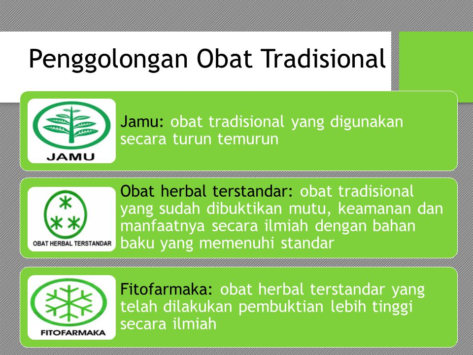 Penggolongan Obat Tradisional