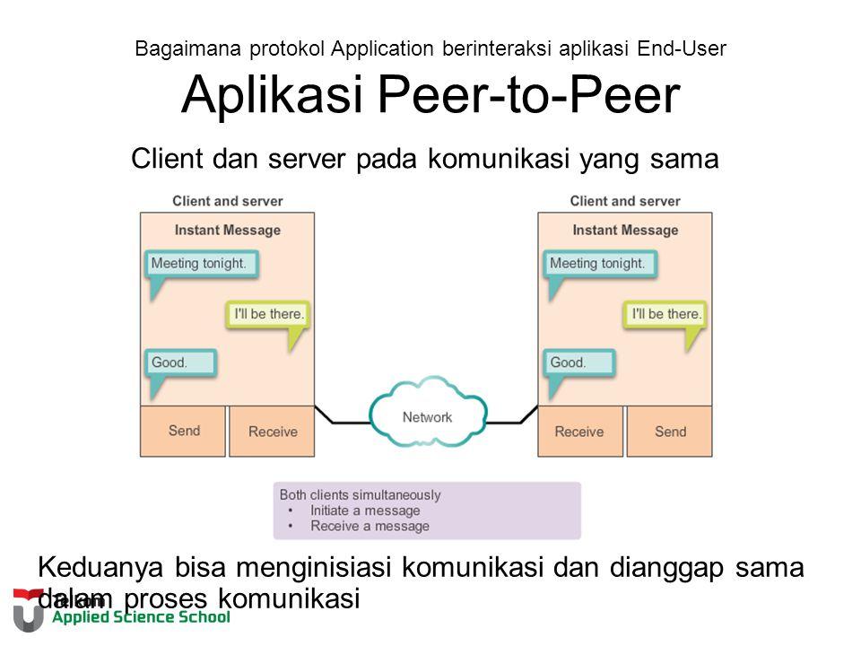 Client dan server pada komunikasi yang sama