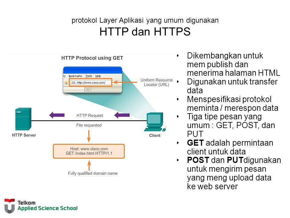 protokol Layer Aplikasi yang umum digunakan HTTP dan HTTPS