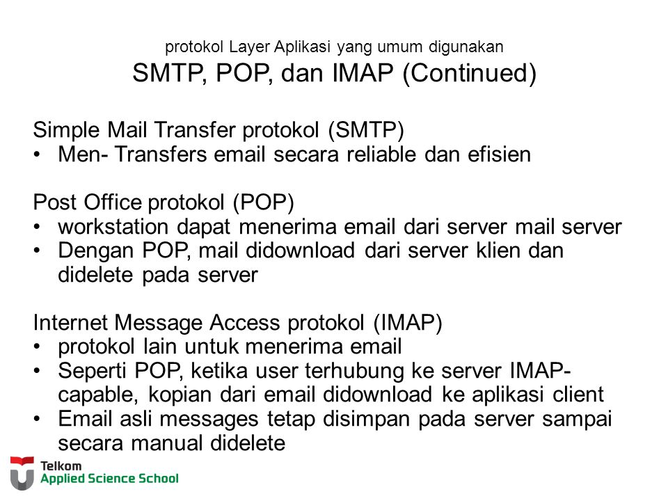 Simple Mail Transfer protokol (SMTP)
