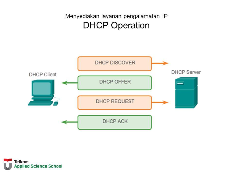 Menyediakan layanan pengalamatan IP DHCP Operation