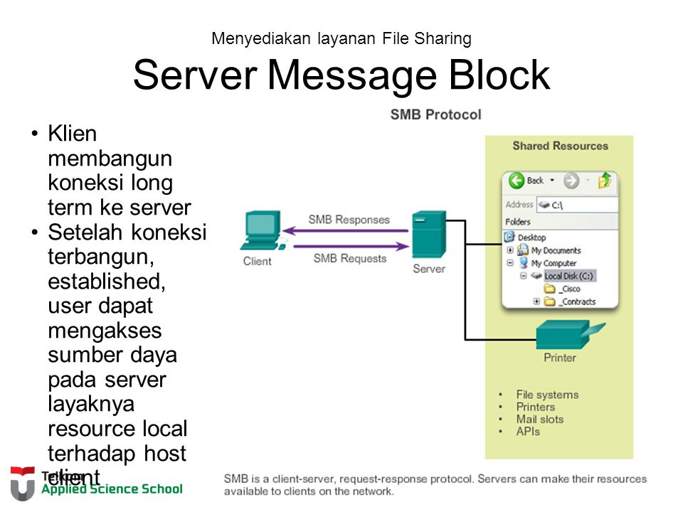 Menyediakan layanan File Sharing Server Message Block