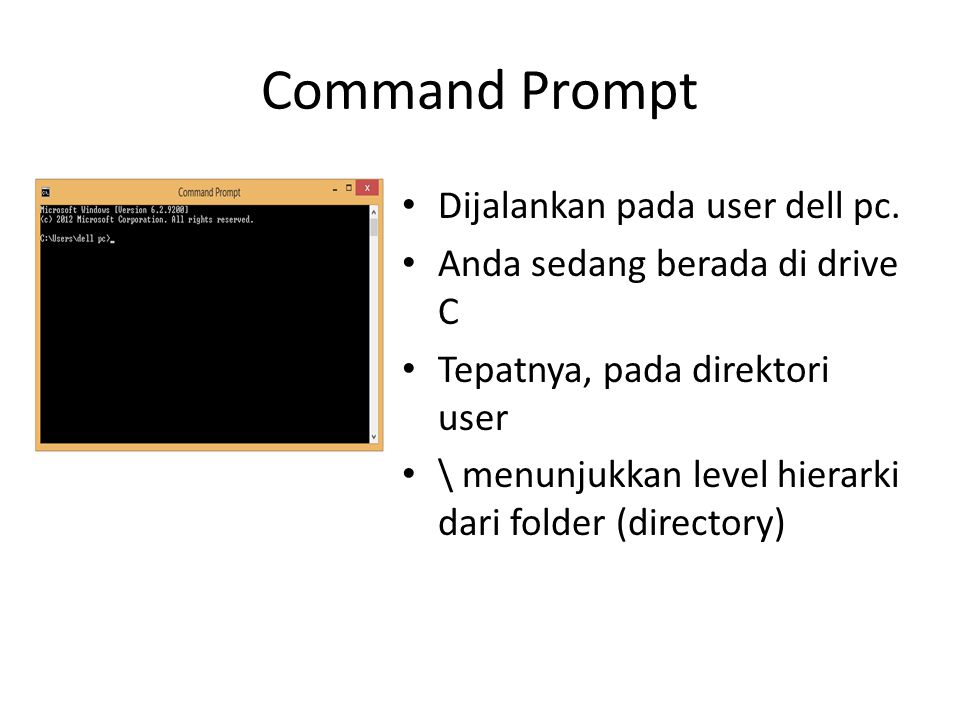 Command Prompt Dijalankan pada user dell pc.