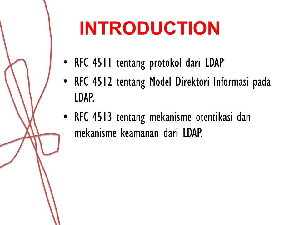 INTRODUCTION RFC 4511 tentang protokol dari LDAP