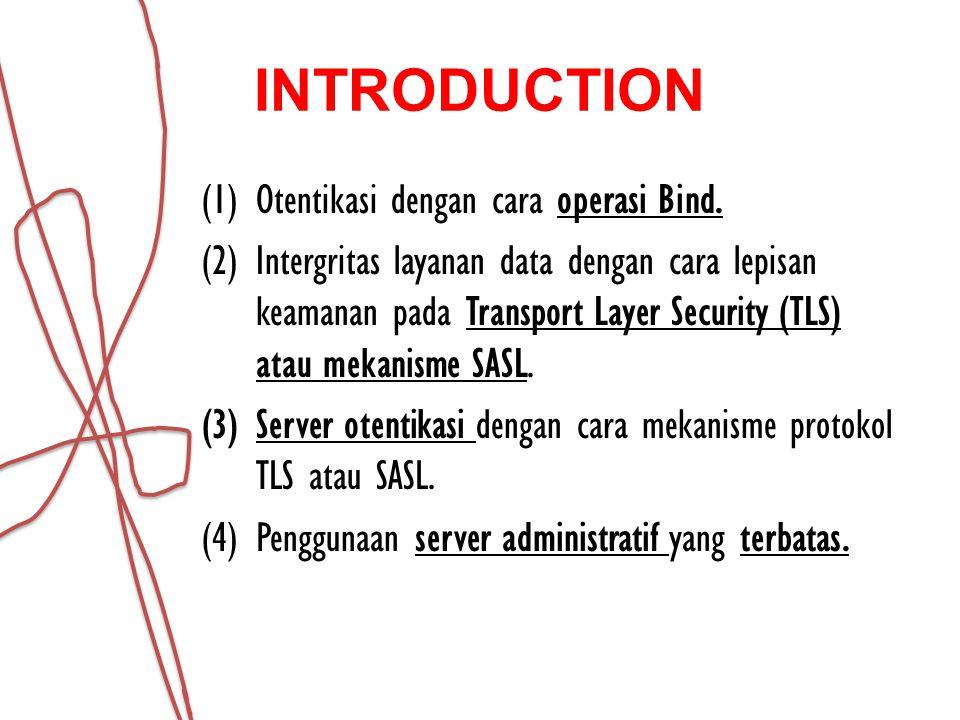INTRODUCTION Otentikasi dengan cara operasi Bind.