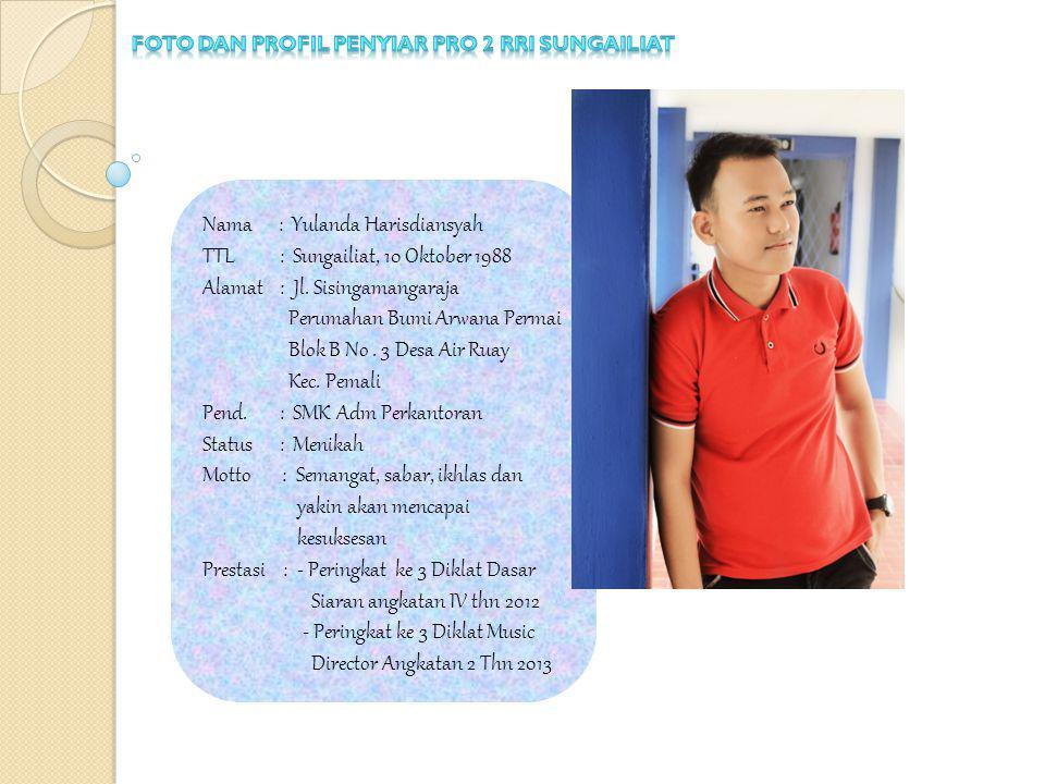 Foto dan profil penyiar pro 2 rri sungailiat