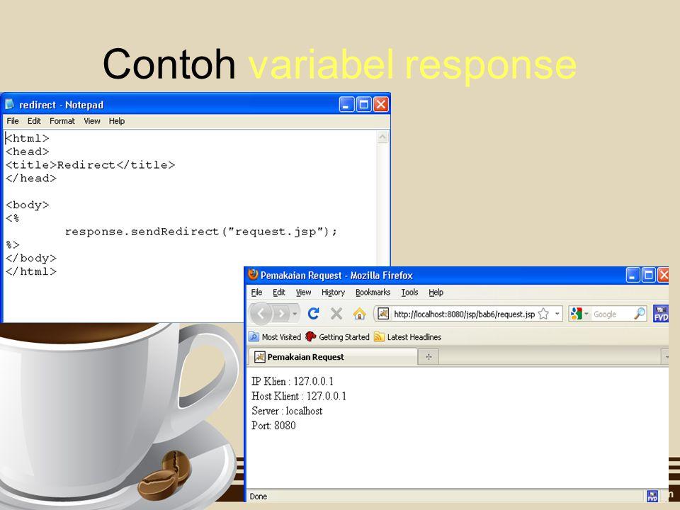Contoh variabel response
