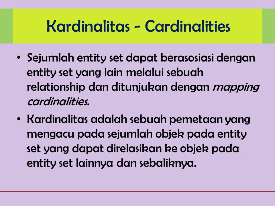 Kardinalitas - Cardinalities