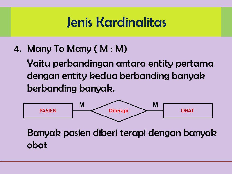 Jenis Kardinalitas Many To Many ( M : M)