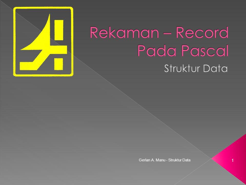Rekaman – Record Pada Pascal