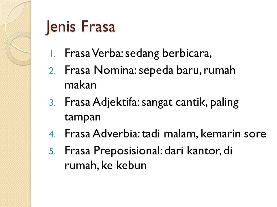 Jenis Frasa Frasa Verba: sedang berbicara,