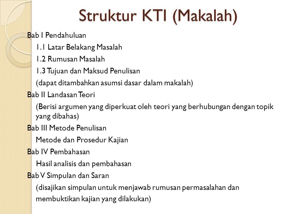 Struktur KTI (Makalah)