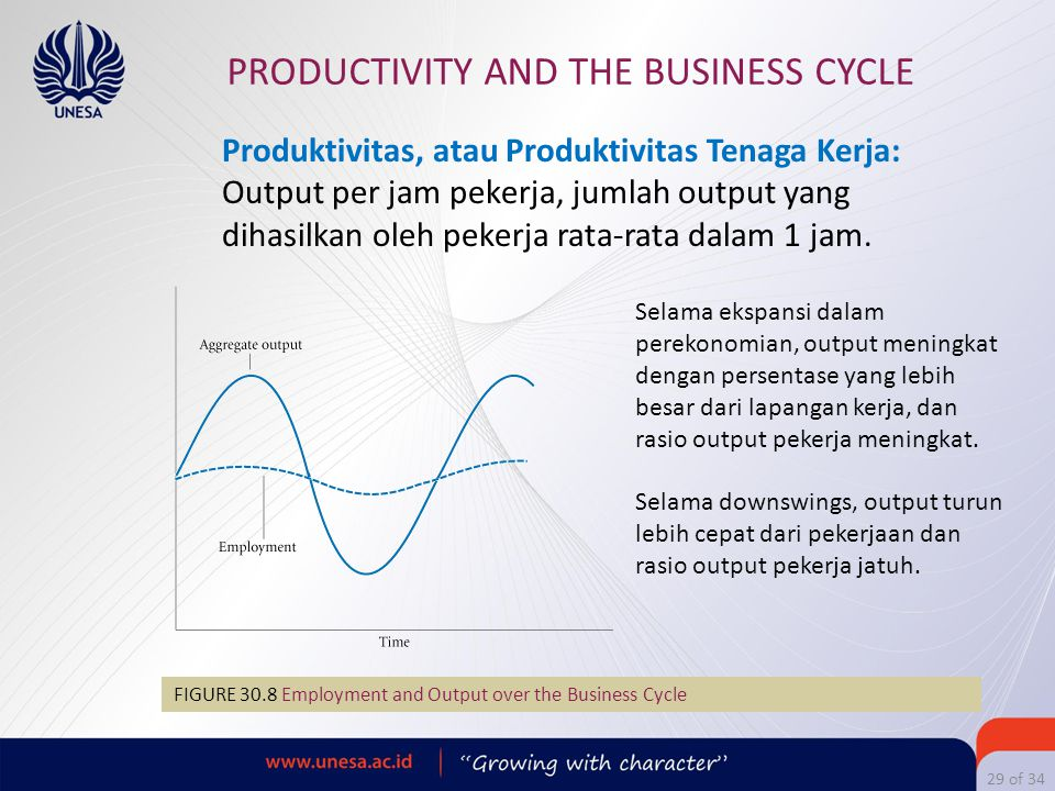 PRODUCTIVITY AND THE BUSINESS CYCLE