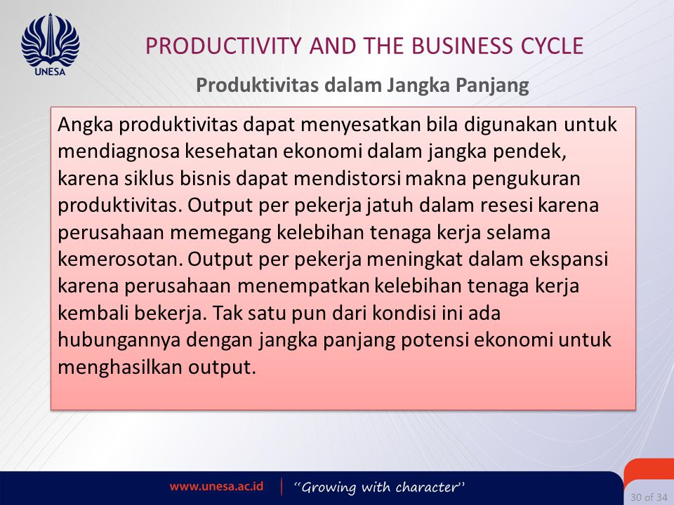 Produktivitas dalam Jangka Panjang