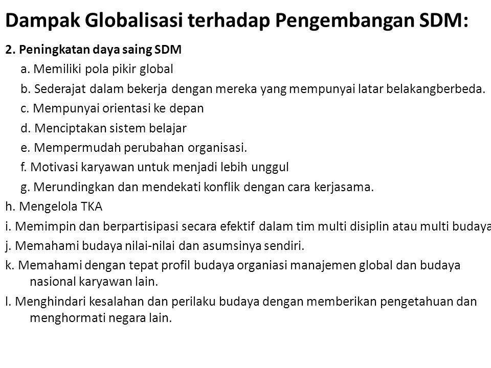 Dampak Globalisasi terhadap Pengembangan SDM: