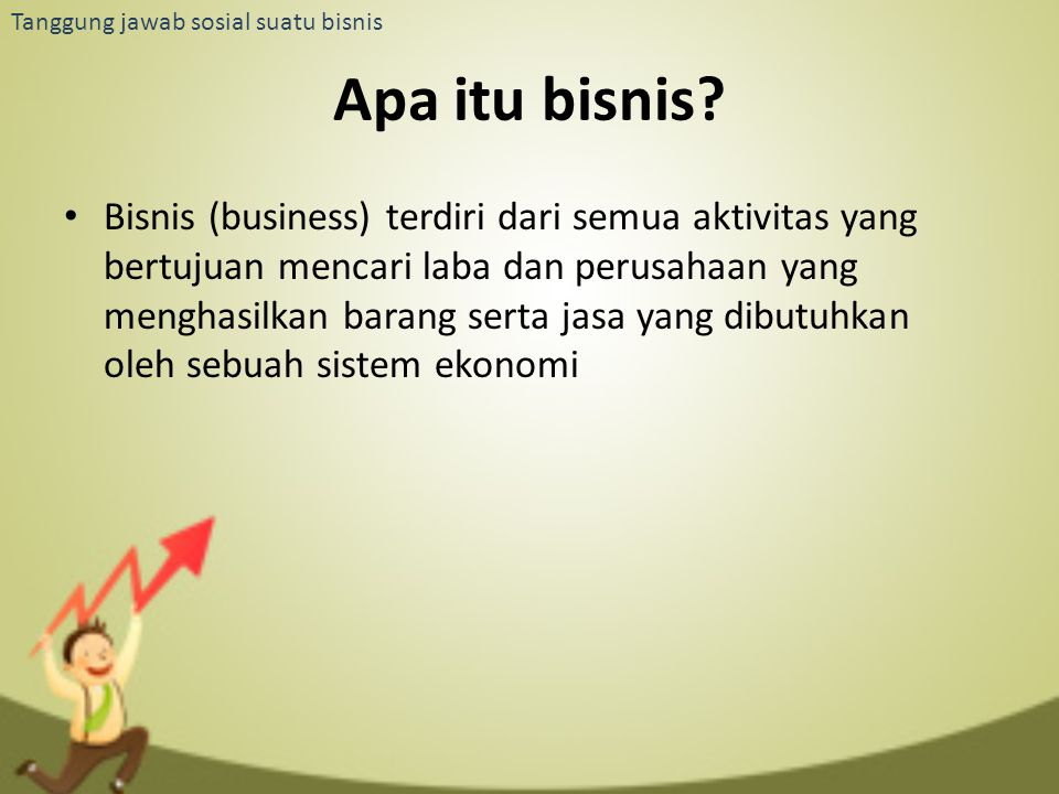 Apa itu bisnis