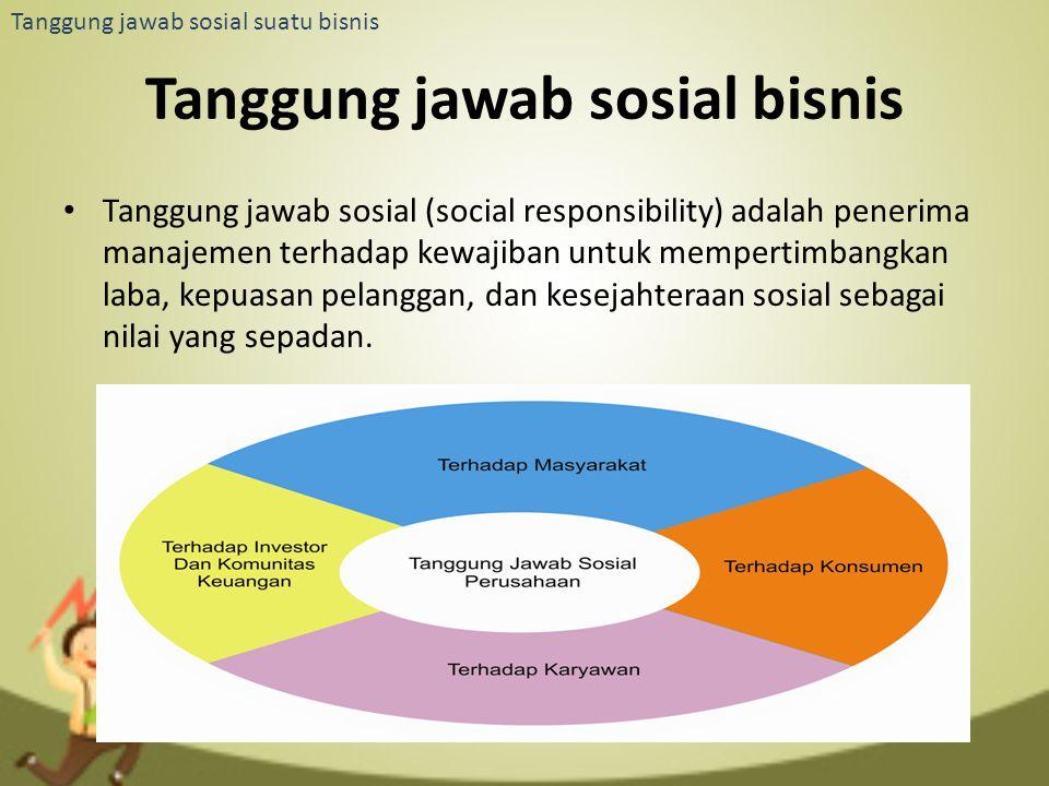 Tanggung jawab sosial bisnis