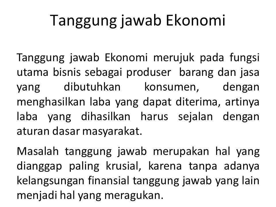 Tanggung jawab Ekonomi