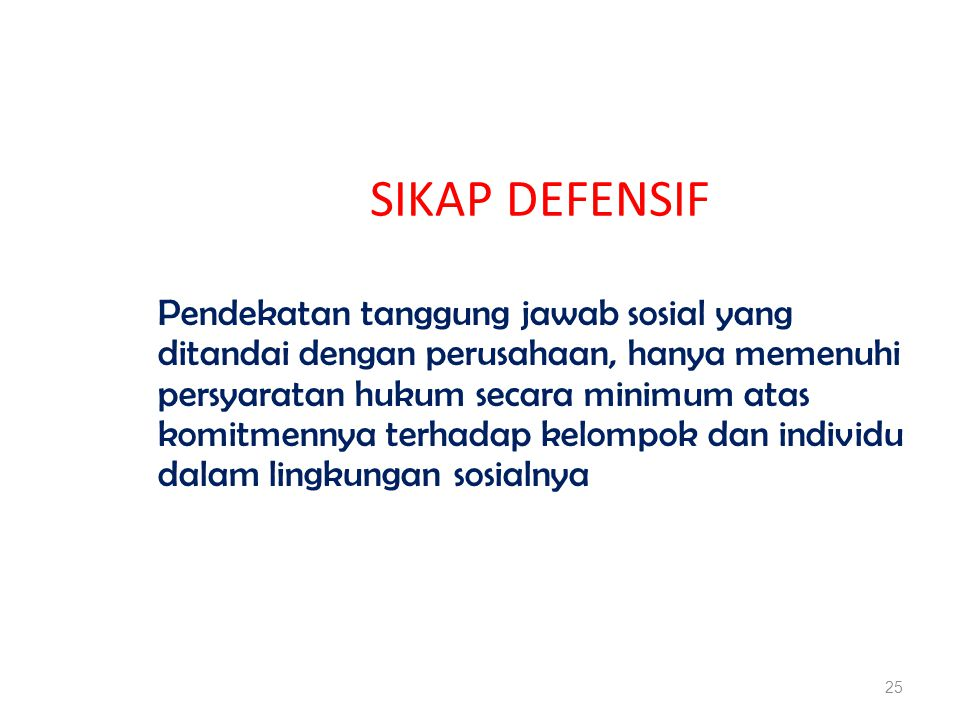SIKAP DEFENSIF