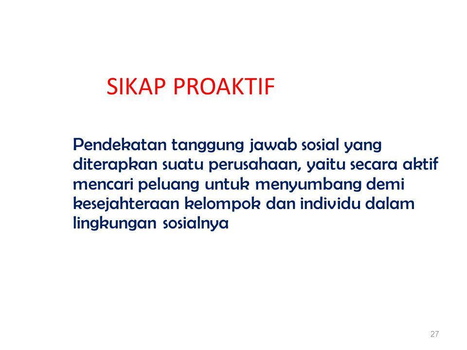 SIKAP PROAKTIF