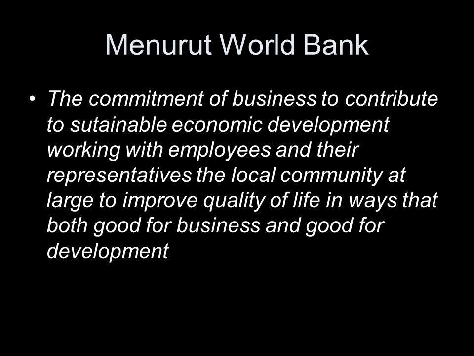 Menurut World Bank