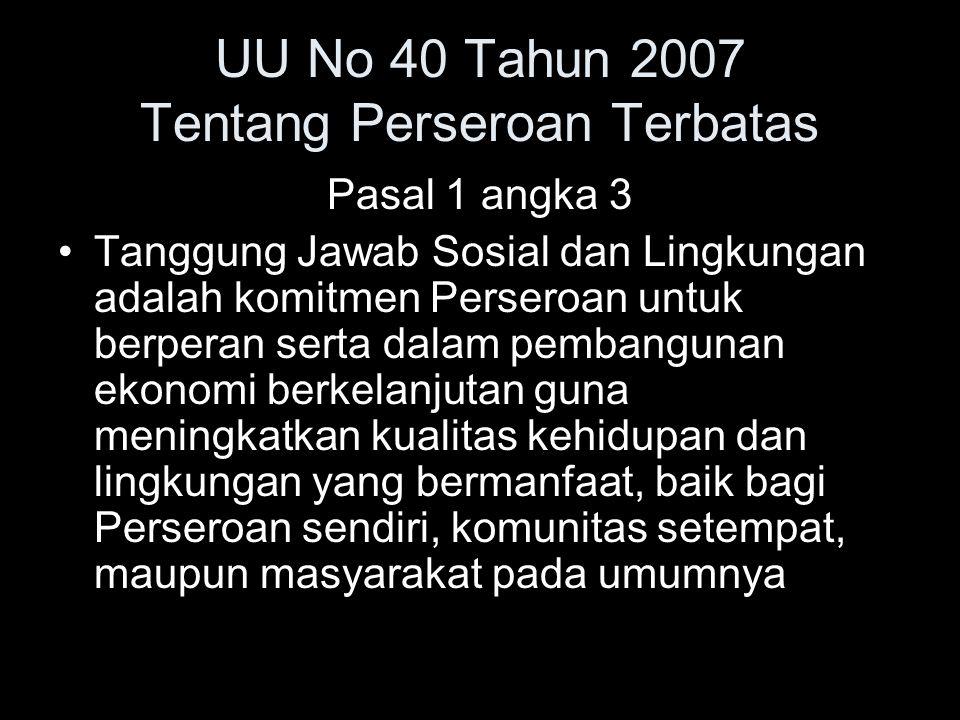 UU No 40 Tahun 2007 Tentang Perseroan Terbatas