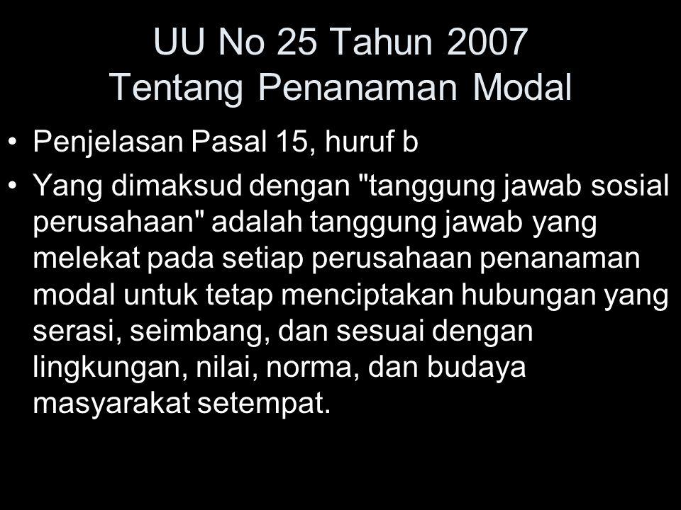 UU No 25 Tahun 2007 Tentang Penanaman Modal