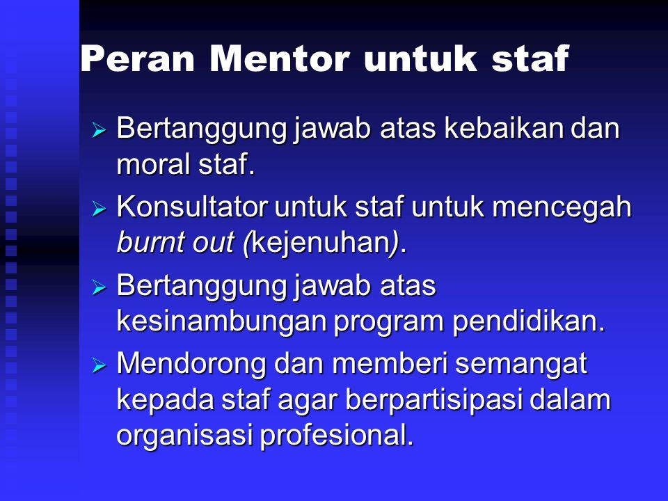 Peran Mentor untuk staf