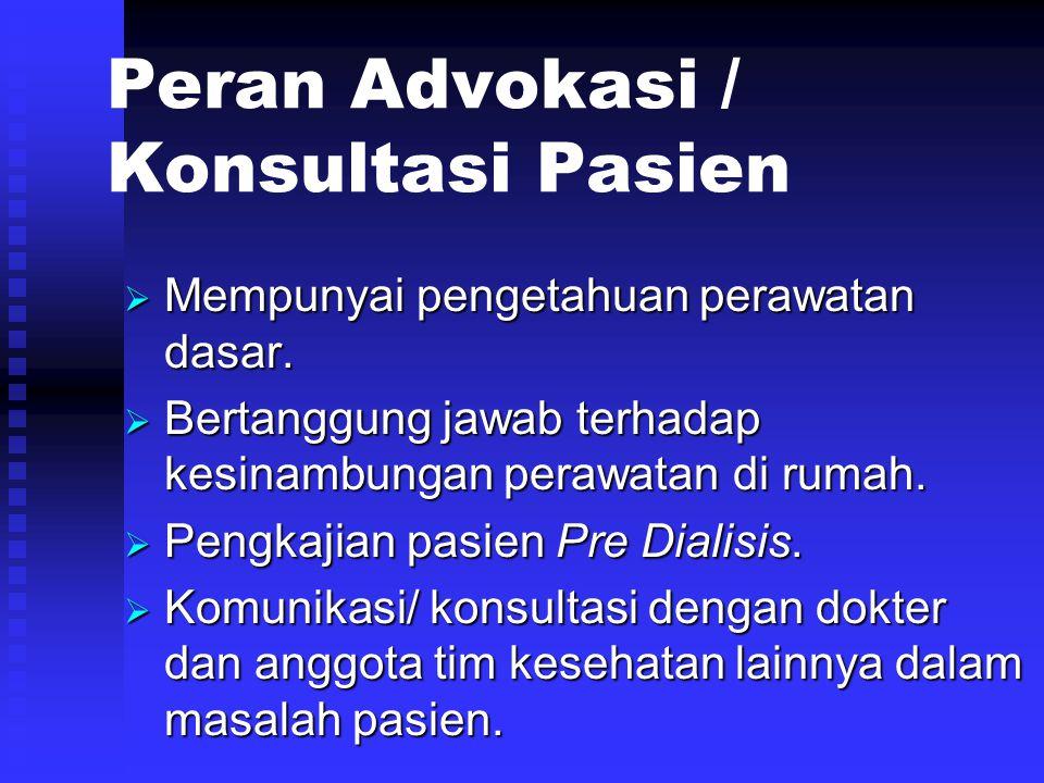 Peran Advokasi / Konsultasi Pasien
