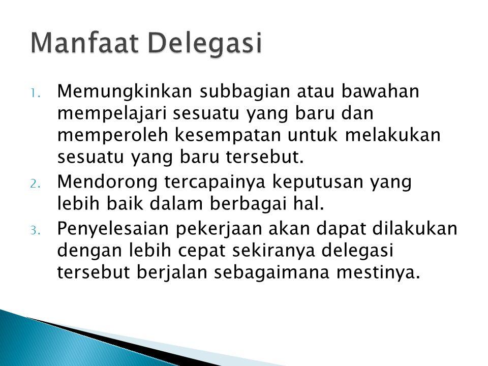 Manfaat Delegasi