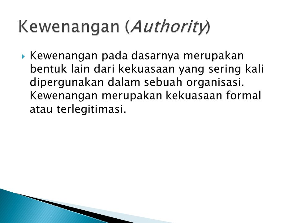 Kewenangan (Authority)