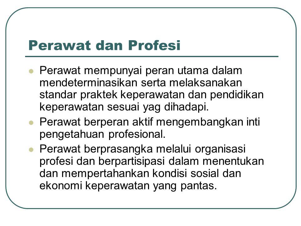 Perawat dan Profesi