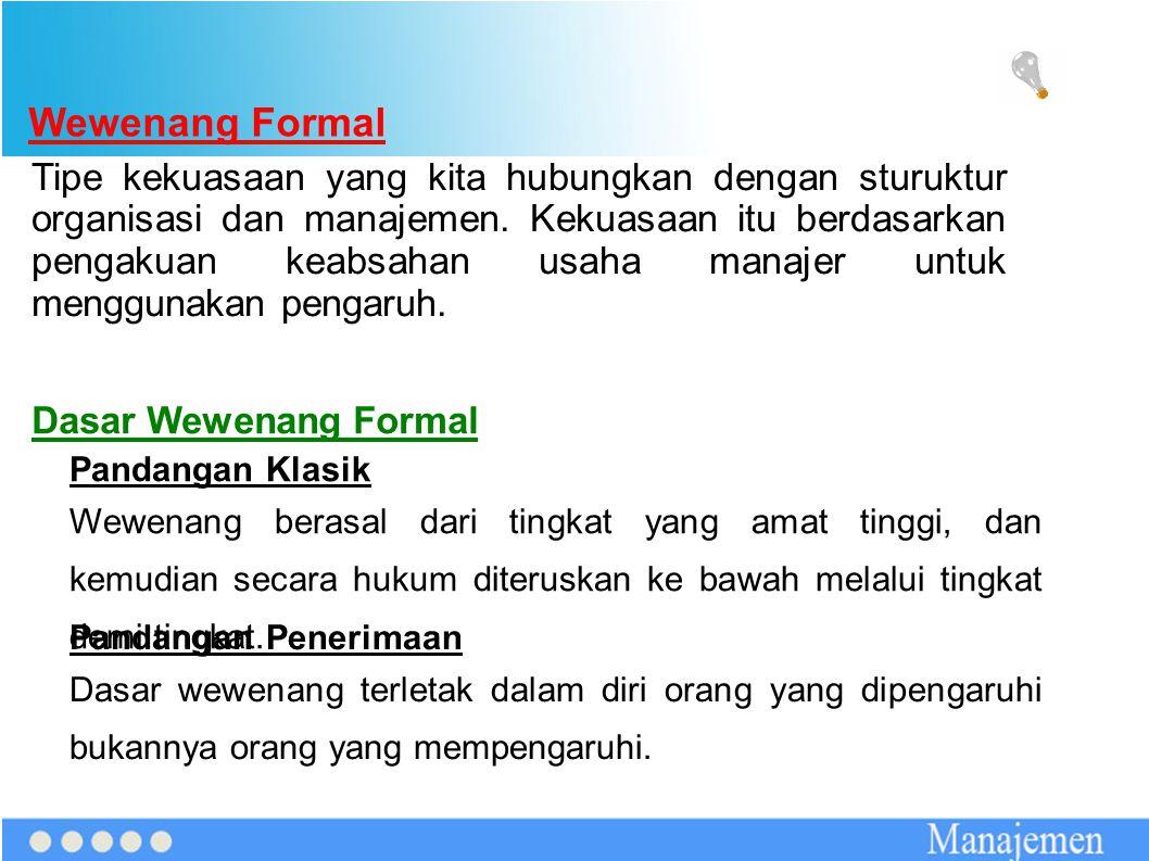 Wewenang Formal