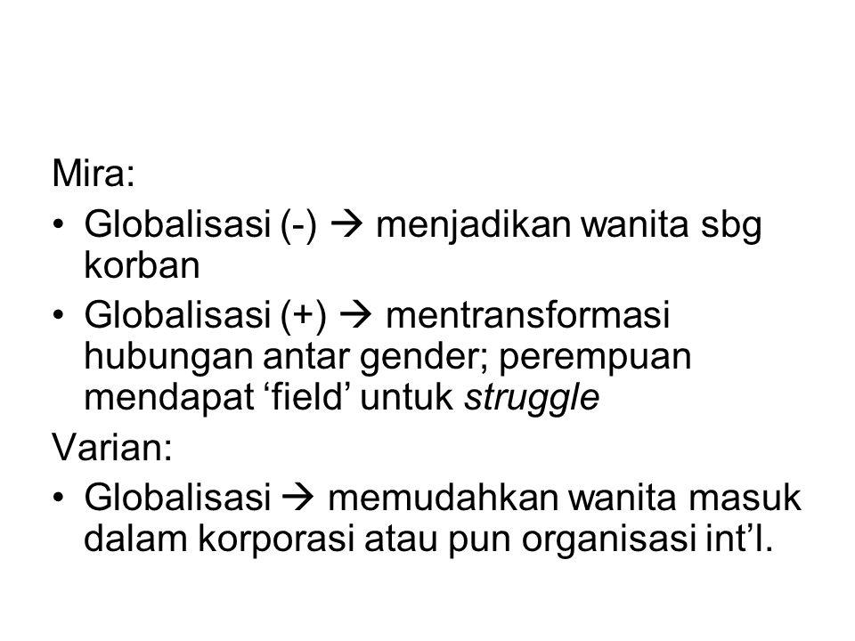 Mira: Globalisasi (-)  menjadikan wanita sbg korban.