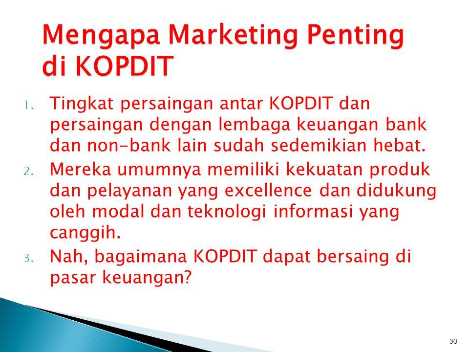 Mengapa Marketing Penting di KOPDIT