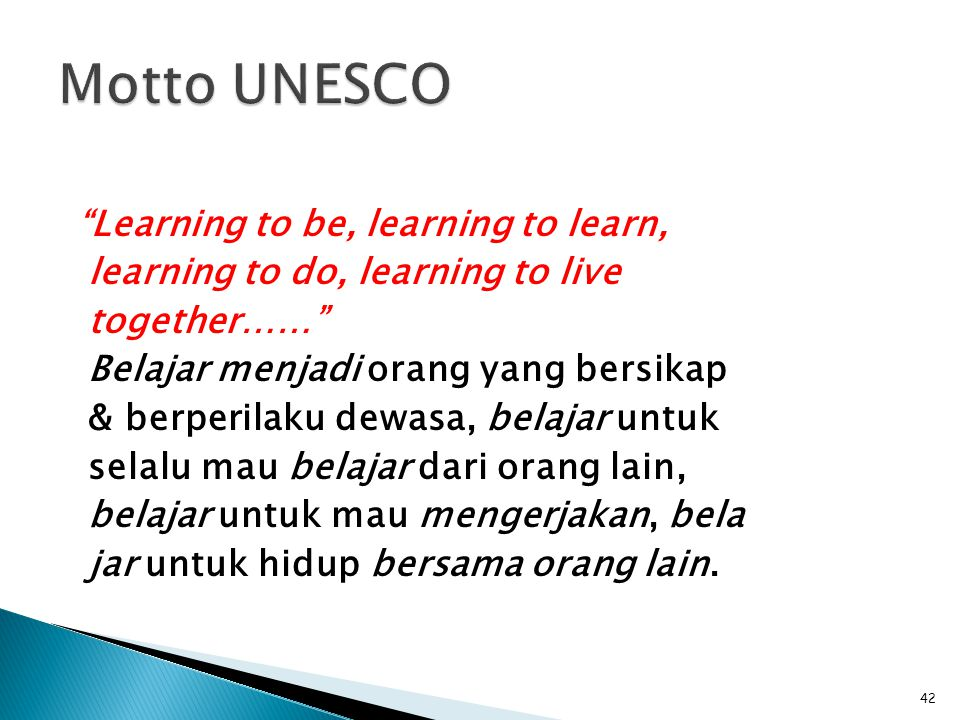 Motto UNESCO