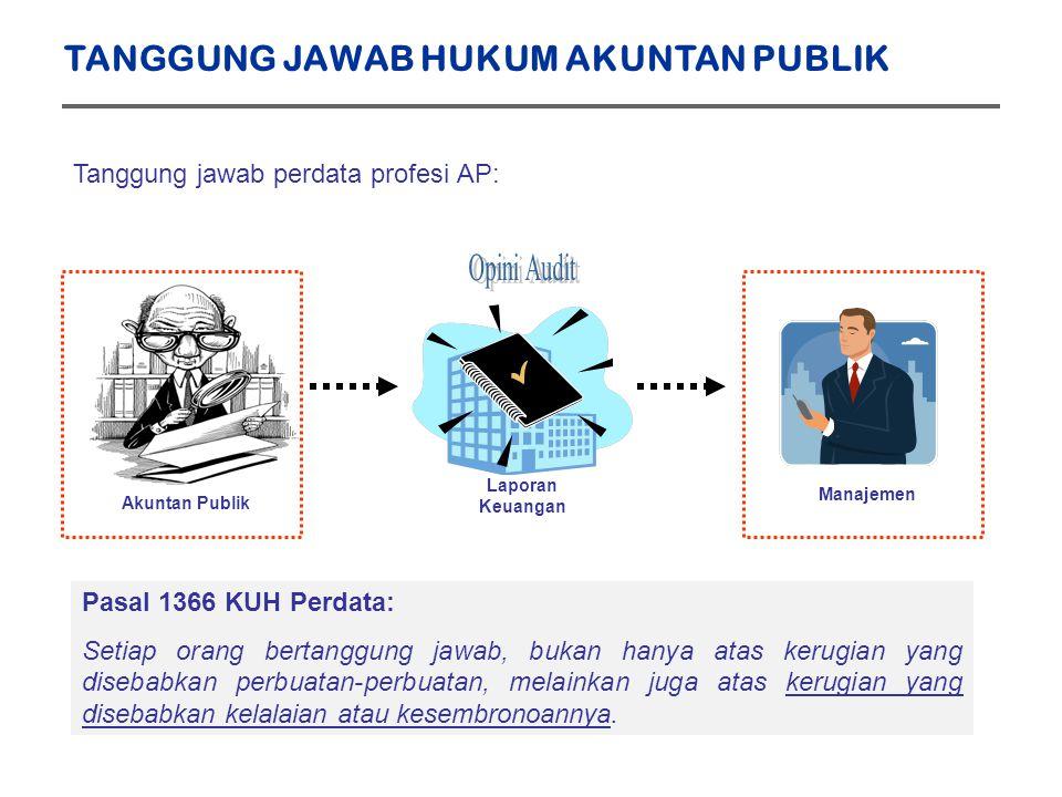 Opini Audit TANGGUNG JAWAB HUKUM AKUNTAN PUBLIK