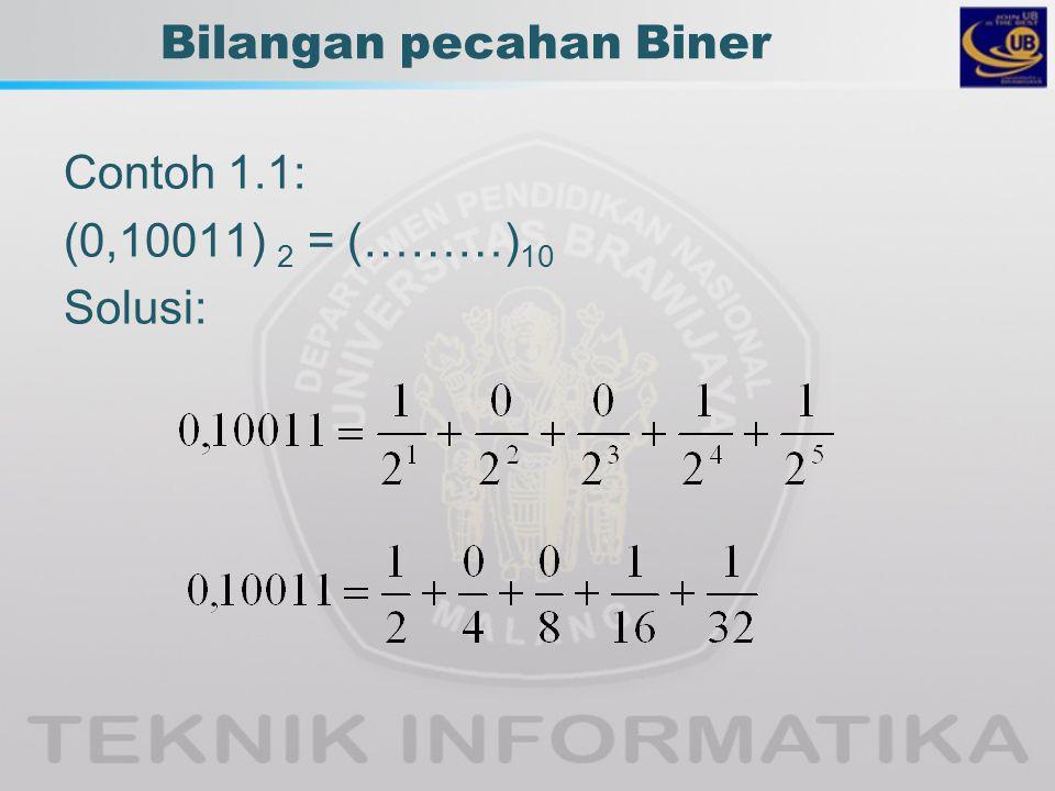 Bilangan pecahan Biner
