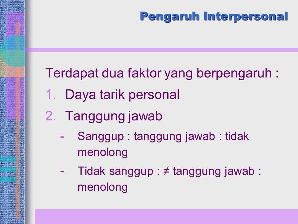 Pengaruh Interpersonal