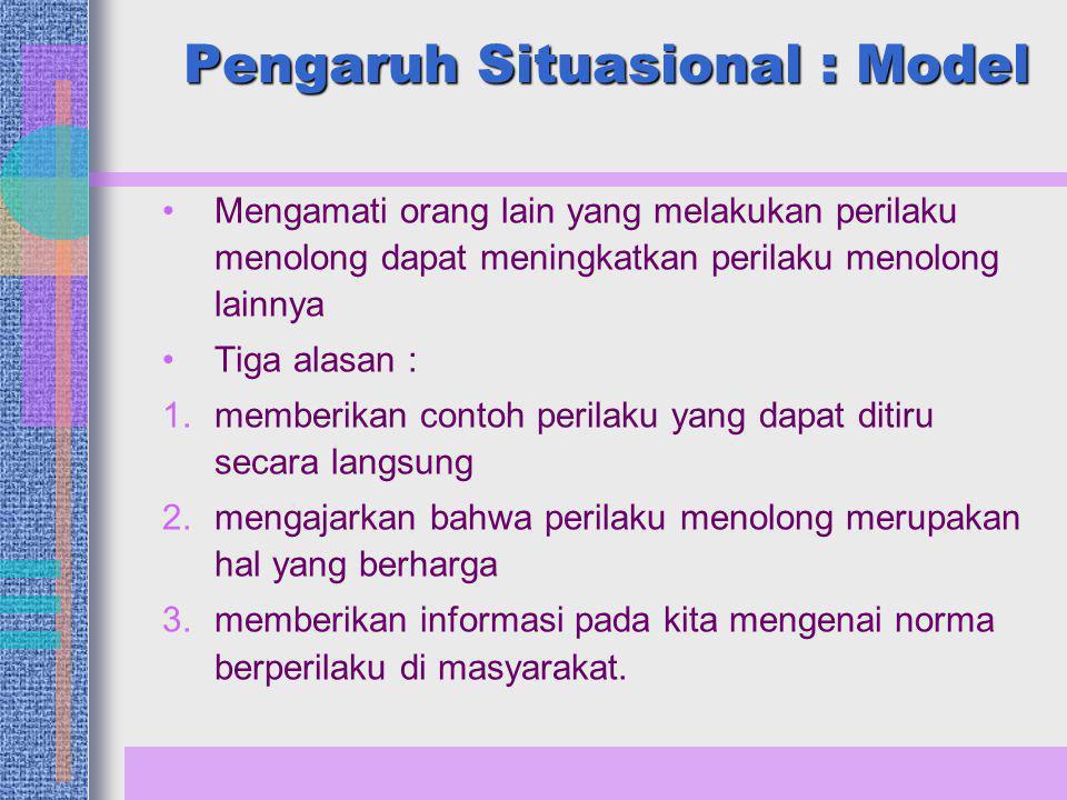 Pengaruh Situasional : Model