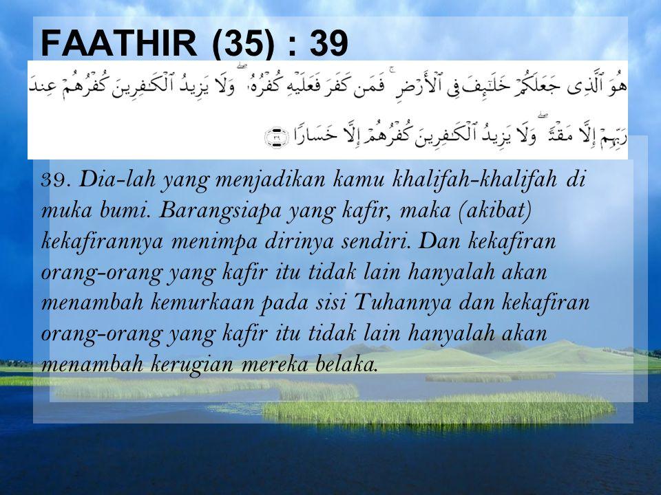 Faathir (35) : 39