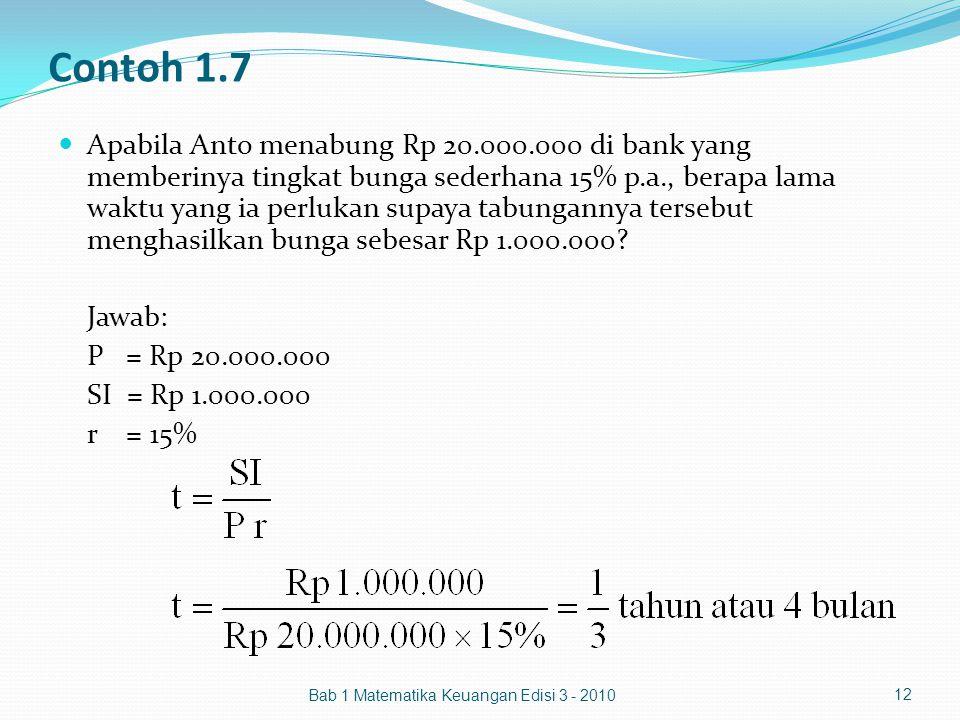 Contoh 1.7