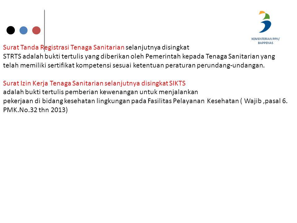 Surat Tanda Registrasi Tenaga Sanitarian selanjutnya disingkat
