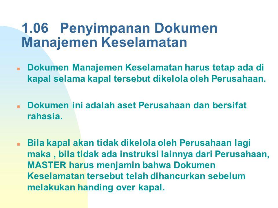 1.06 Penyimpanan Dokumen Manajemen Keselamatan