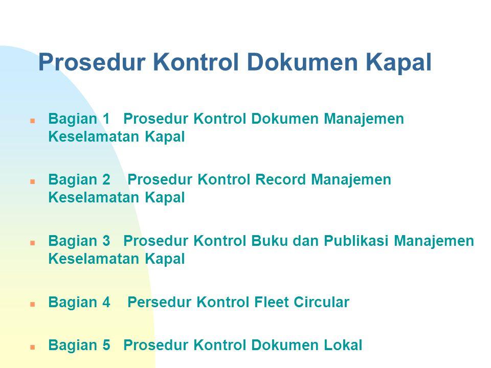Prosedur Kontrol Dokumen Kapal