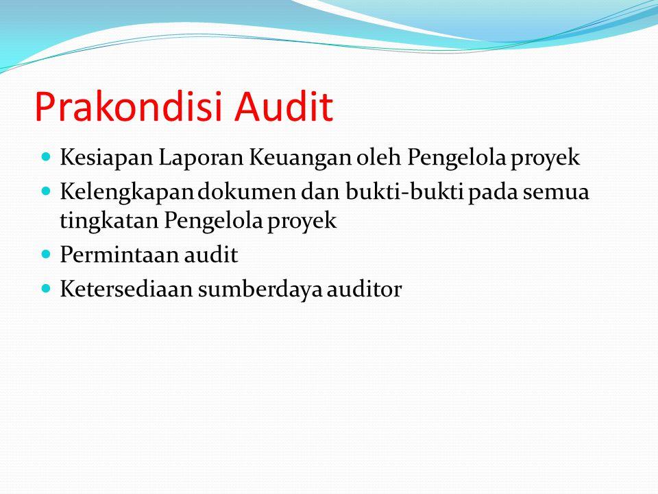 Prakondisi Audit Kesiapan Laporan Keuangan oleh Pengelola proyek