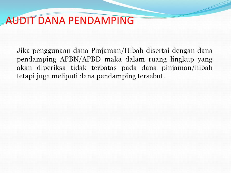 AUDIT DANA PENDAMPING