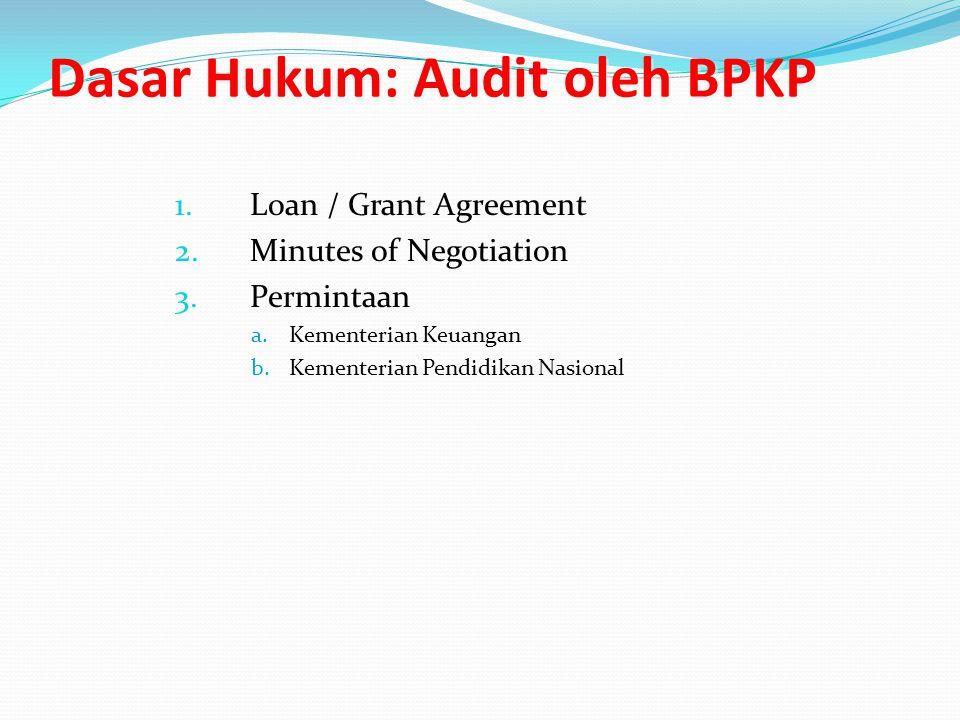 Dasar Hukum: Audit oleh BPKP