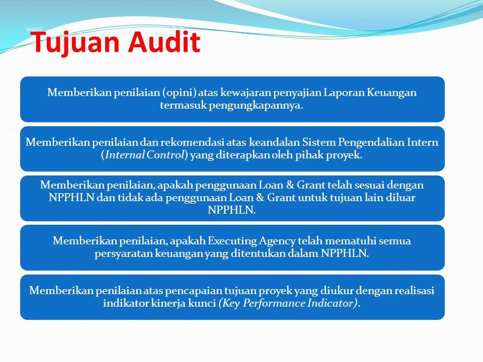 Tujuan Audit Memberikan penilaian (opini) atas kewajaran penyajian Laporan Keuangan termasuk pengungkapannya.